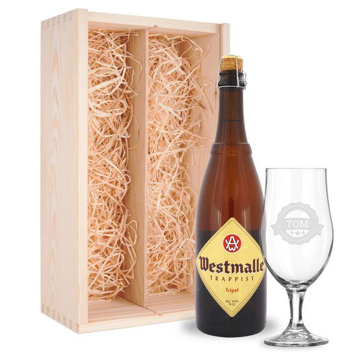 Bier Mit Glas   Westmalle Personalized Glass, Beer Crate #belgian #beer  #lover