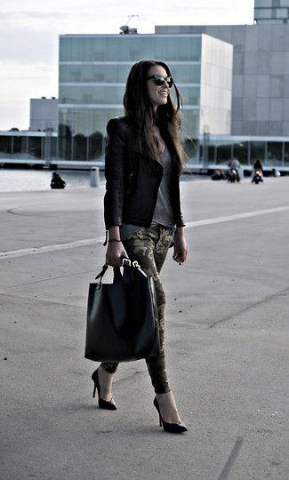 yess camo skinny jeans #lookbook