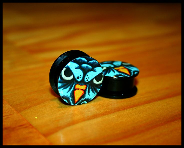 "OWL 22MM 3/4"" ACRYLIC SCREW PLUGS only 3 available"