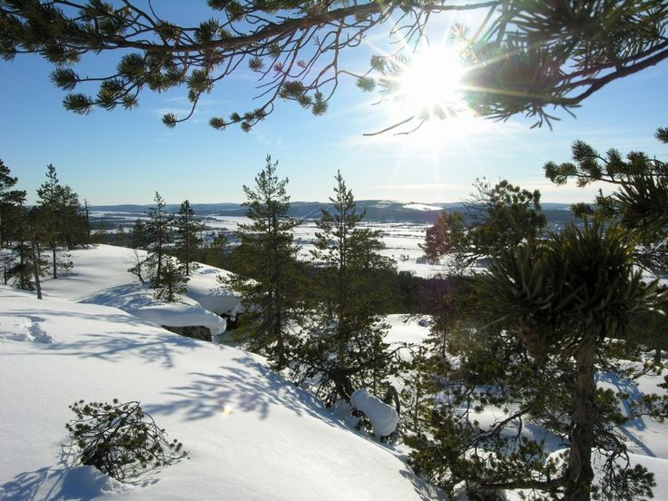 Early spring views from Pello in the Tornio River Valley in Lapland