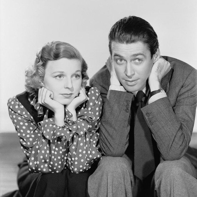 Margaret Sullavan and James Stewart