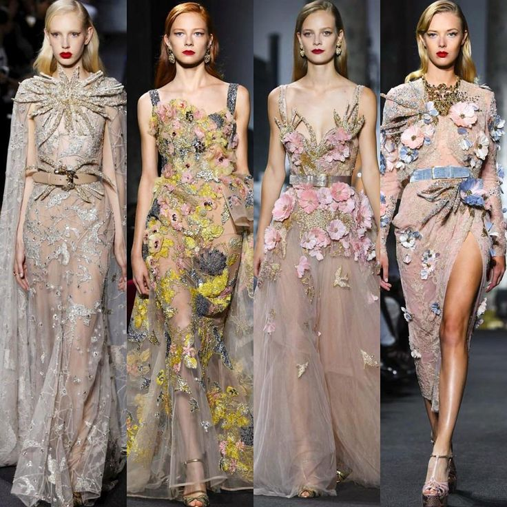 Glamorous Elie Saab Haute Couture Fall 2017 Collection. #runway #fashion #eliesaab #couture #fabfashionfix