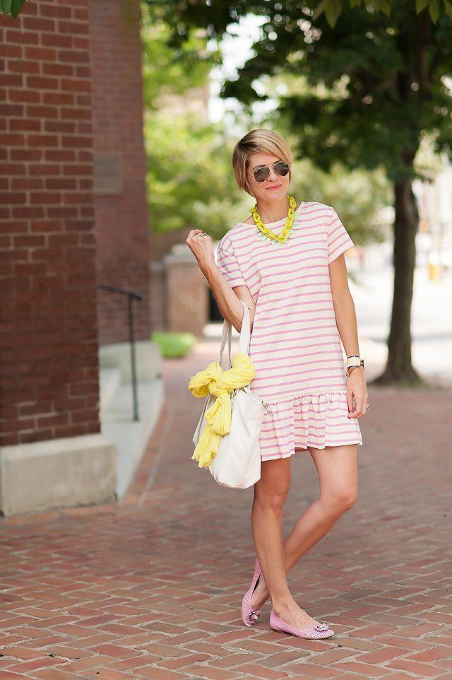 Drop waist dress + Accessories