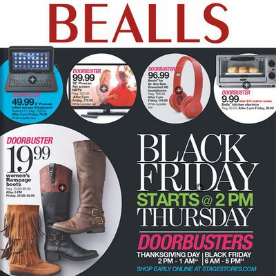 View the Bealls Black Friday 2015 Ad with Bealls (Stage Stores) deals and sales