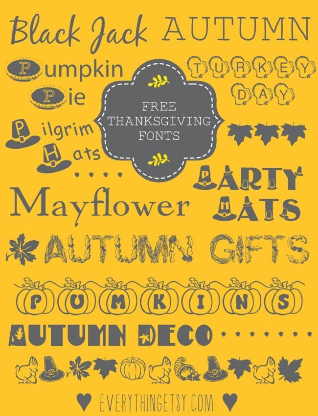 10 Thanksgiving Fonts {free}...these are perfect for your holiday projects! #diy
