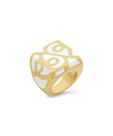 Another great find on #zulily! Gold & White Filigree Ring #zulilyfinds