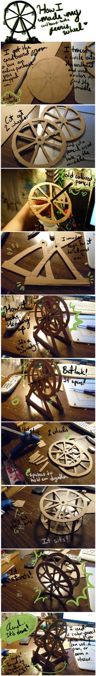 Roda gigante de papelão