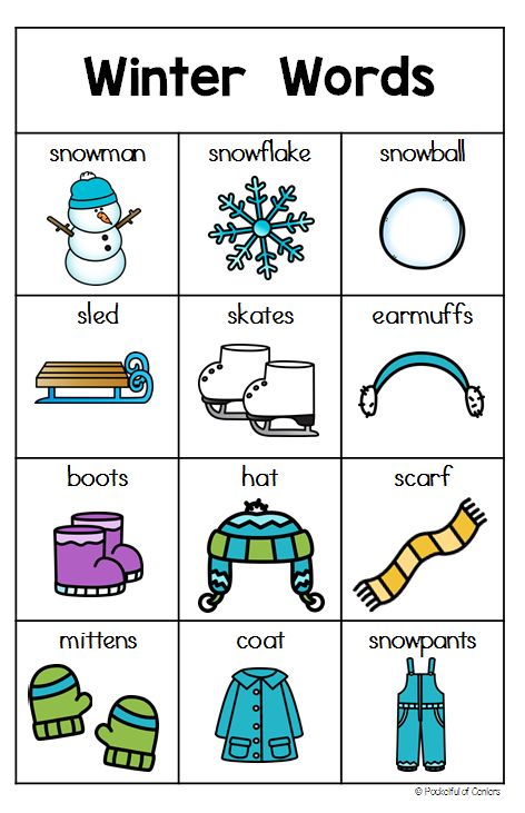 Snow words