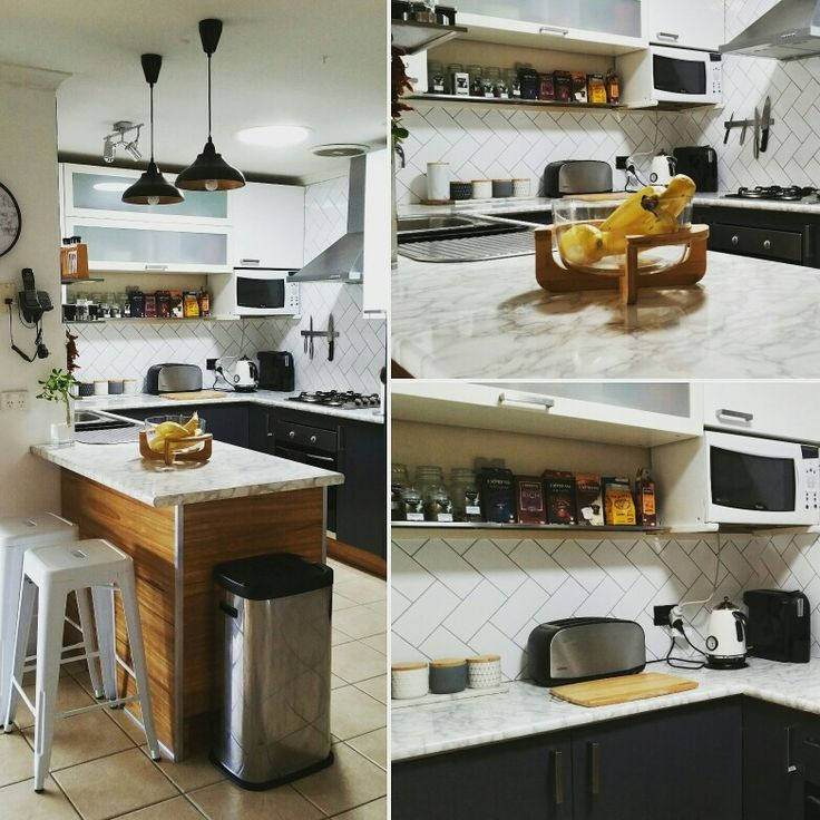 Our newly renovated tiny kitchen