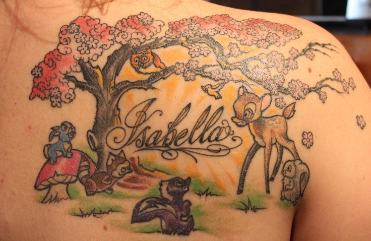 a tattoo in honor of my daugther isabella tattoo pinterest disney tattoos and body art. Black Bedroom Furniture Sets. Home Design Ideas