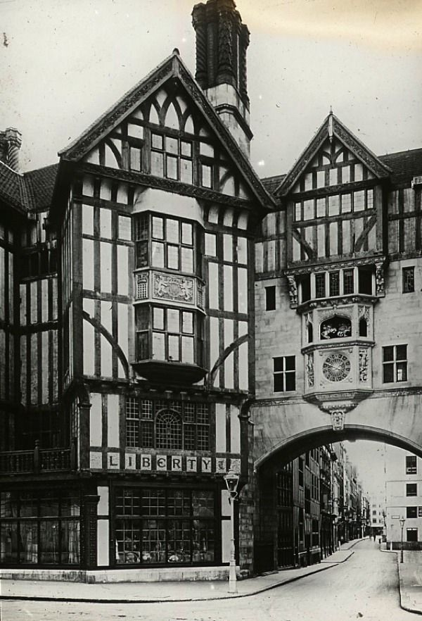 Liberty of London, c.1910 - The Shops of Old London  ++ http://spitalfieldslife.com/2012/11/17/the-shops-of-old-london/