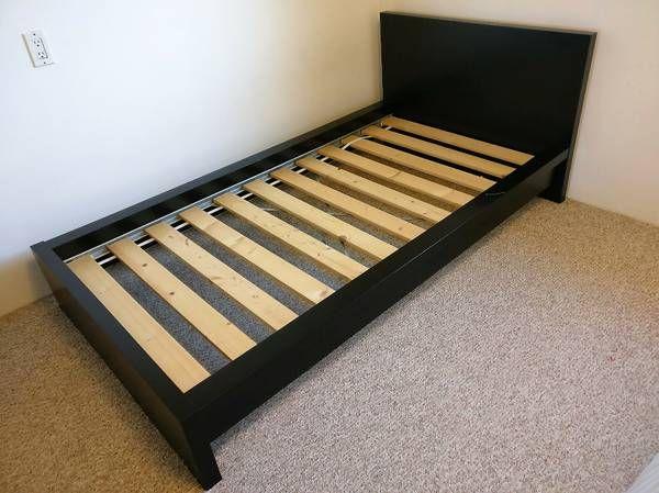 ikea complete singletwin bed frame u0026 mattress malm burnaby furniture