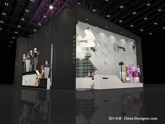 品牌服装展览 效果图与实际现场-鼎昌装饰设计的设计师家园-田园,温馨,白色,酷家,1-5万,一居,样板间