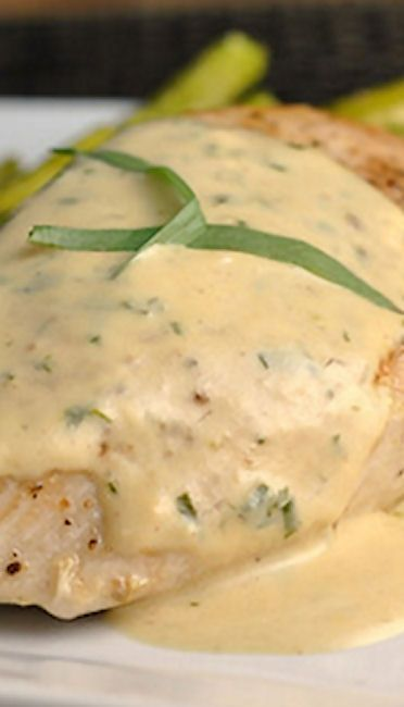 Chicken with Mustard Cream Sauce Recipe ~ Healthy, quick and full of flavor