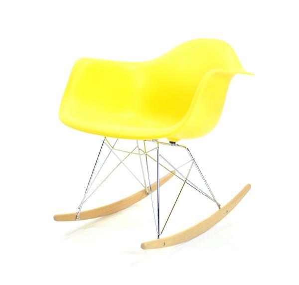 Eames Plastic Armchair RAR - Krom, medar i lönn - Mustard