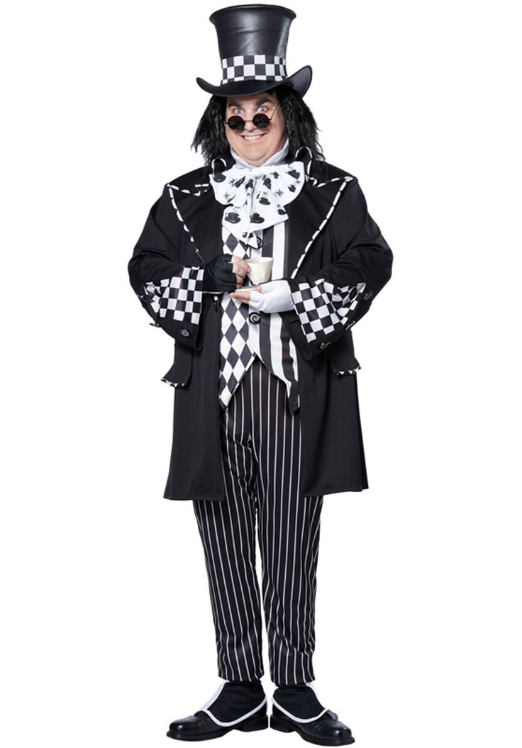 Plus Size Dark Mad Hatter Costume - Fairy Tale Costumes at Escapade