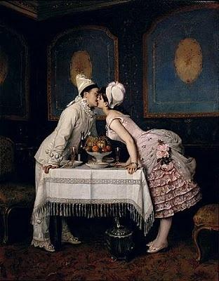 """Auguste Toulmouche :""""Le Baiser"""""""