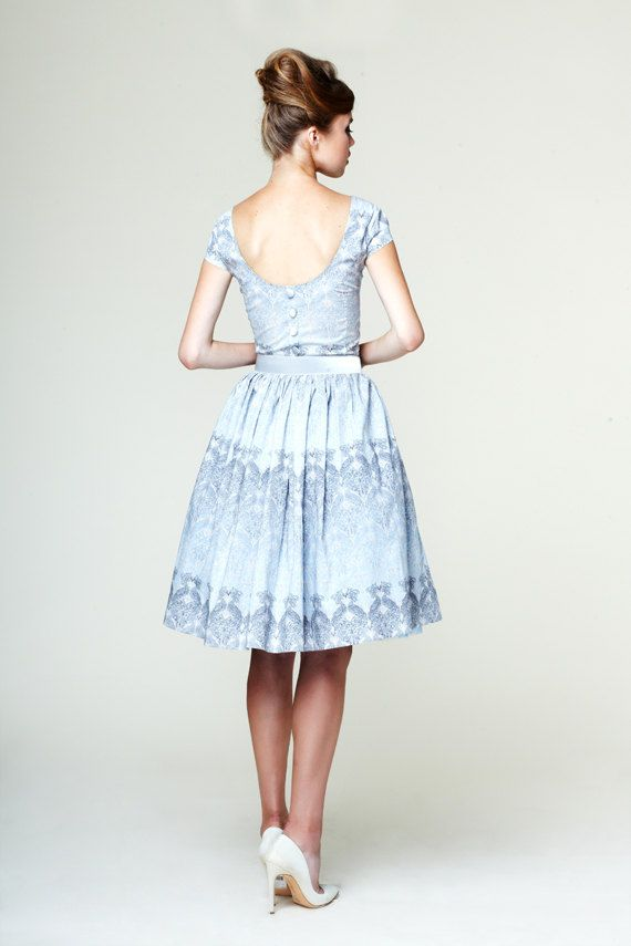 Manon Сotton dress with low back made of Liberty by mrspomeranz