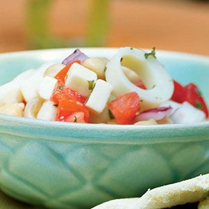 Chickpea & Hearts of Palm salad