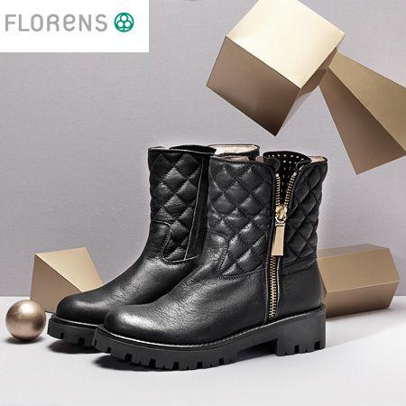 #BlackBikerBoots #Florens #FashionShoes