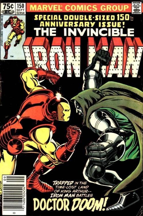 Iron Man #150, Doctor Doom, September 1981, cover by John Romita Jr, and Bob Layton.