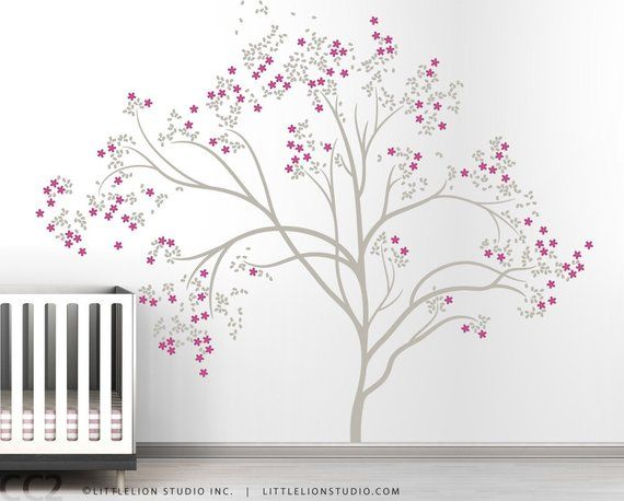 Blossom Tree Extra Large Wall Decal Japanese Cherry Blossom Tree Decal Large Wall Decals Wall Decals Kids Wall Decals