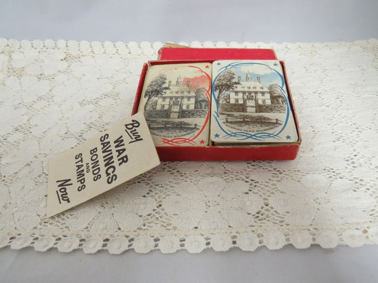 Vintage Buy War Bond Double Deck Cards Poker Contract Bridge Hamilton Cards by KansasKardsStudio on Etsy