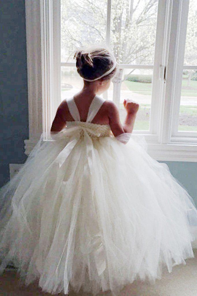 Ivory Flower Girl Tutu Dress Satin Straps Wedding Dress Pageant Dress Toddler Dress Tulle Dress In 2020 Flower Girl Dresses Flower Girl Dresses Tutu Ivory Flower Girl Dresses
