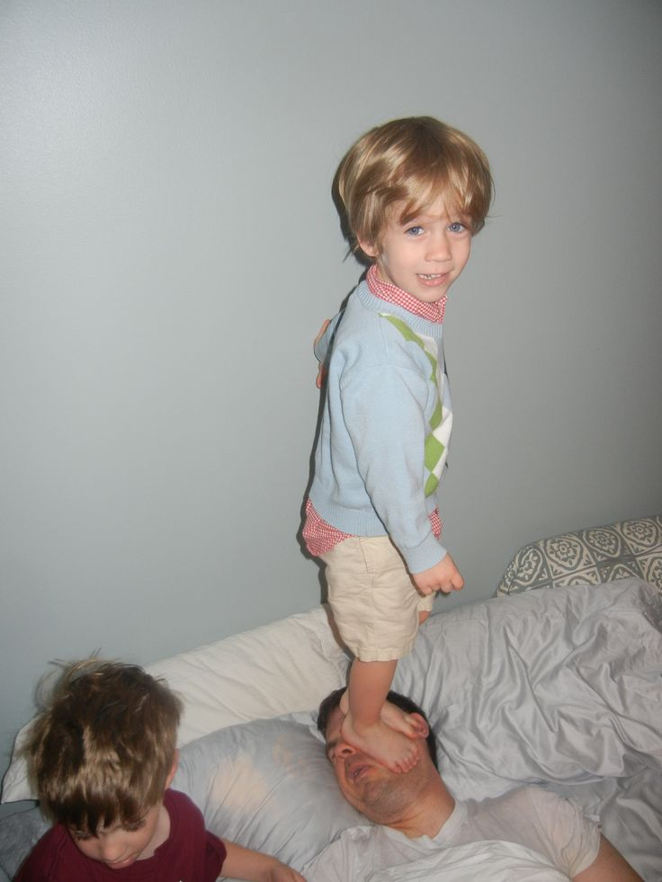"""""""The burden of fatherhood."""": Happy Father Day, Laughing, Alarm Clocks, Funny, Families Photo, Wake Up, Kids, Dads, Saturday Mornings"""