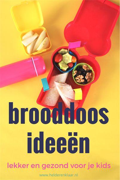 Brooddoos ideeën met gratis checklist voor lekkere lunches | www.helderenklaar.nl | professional organizing |hulp bij opruimen | time management | voor  werkende moeders