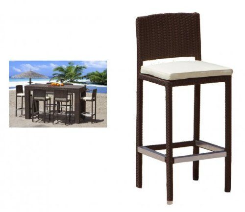 "Amalfi Outdoor Barstool (Espresso) (41""H x 17""W x 18""D) by Premier Outdoor Furniture. $520.00. Color: Espresso. Size: 41""H x 17""W x 18""D. This item ships common carrier.. Resin Wicker Saturated with Color. Each Piece Sold Separately. Enjoy meals outdoors with the Amalfi Outdoor Barstool! These outdoor stools look just like those seen in tropical resorts, now available for your backyard. Each piece is carefully crafted with a high quality aluminum frame, powder coat..."