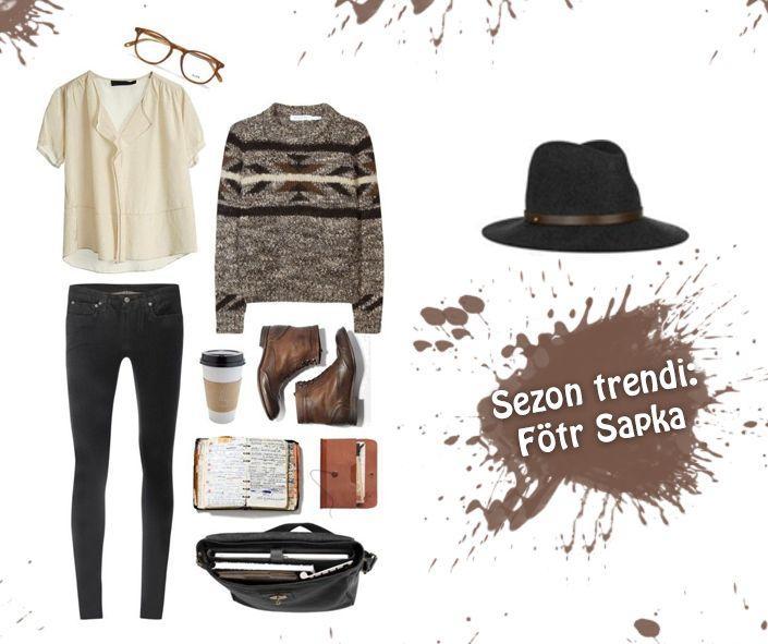 Kahverenginin hakim olduğu kombininizi fötr şapkayla taçlandırın. #kahverengi #kombin #fotr #sapka #fashion #moda #carrefourbursaavm #bursa
