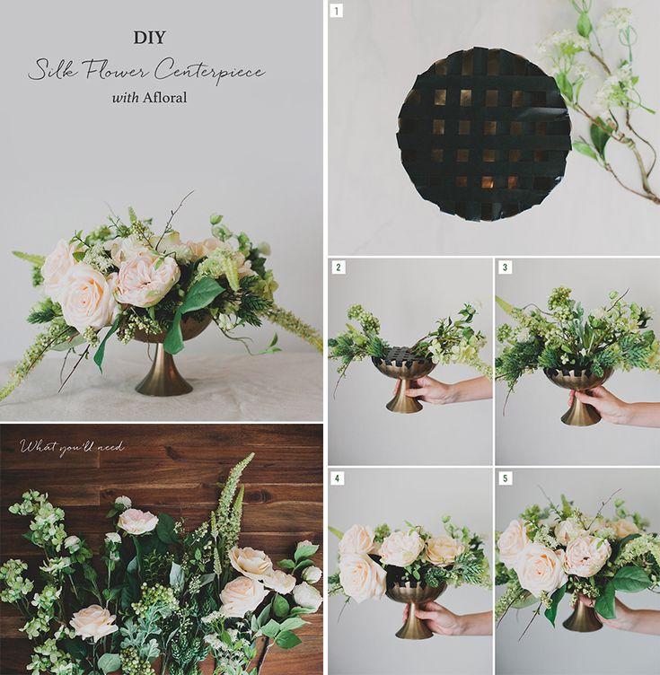 Best diy silk flower arrangements ideas on pinterest