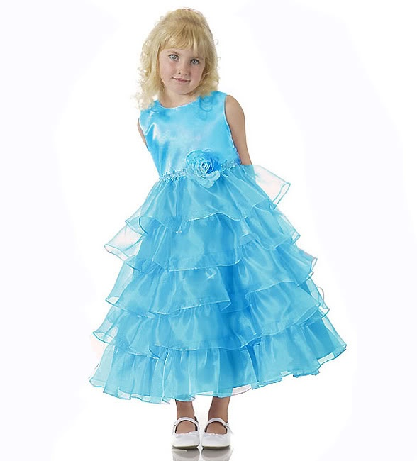 images of girls dresses for special occasions | ... Aqua Tiered Posh Fancy Flower Girl Special Occasion Dress USA | eBay