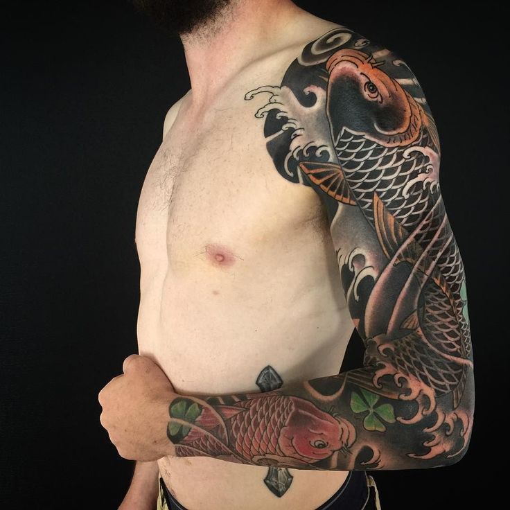 i like horimono. - Completed koi full sleeve for Tom today. Thank you...