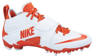 Men's Nike Huarache Lacrosse Orange White Cleats