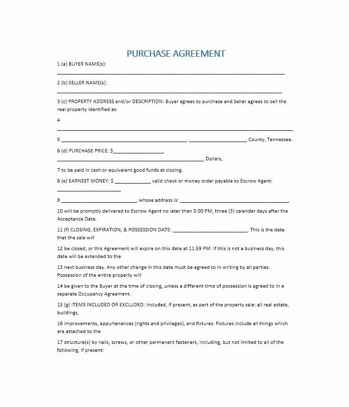 House Buying Contract Template In 2020 Purchase Agreement Real