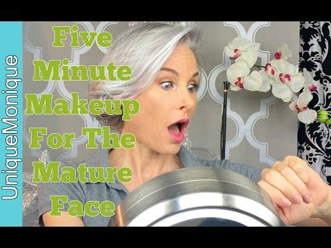 Five Minute Makeup For The Mature Face - YouTube