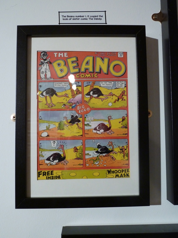 The first ever Beano cover.  Part of the Beano exhibition on the Southbank.