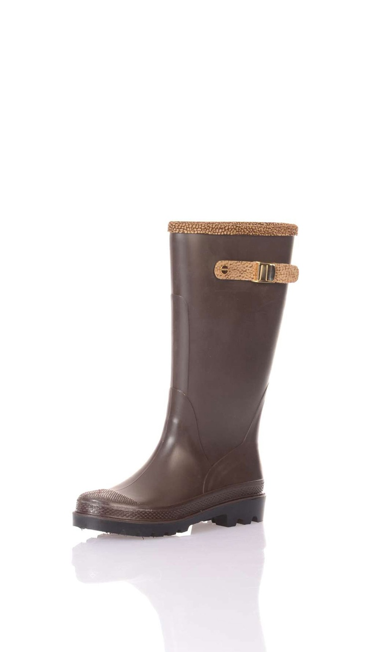 Wellies, 4 cm platform, printed suede side inserts with buckle, canvas lining