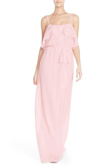nouvelle AMSALE 'Julia' Ruffle Front Chiffon Gown available at #Nordstrom