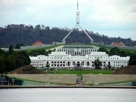 Mt Ainsley view of Canberra Parliament House