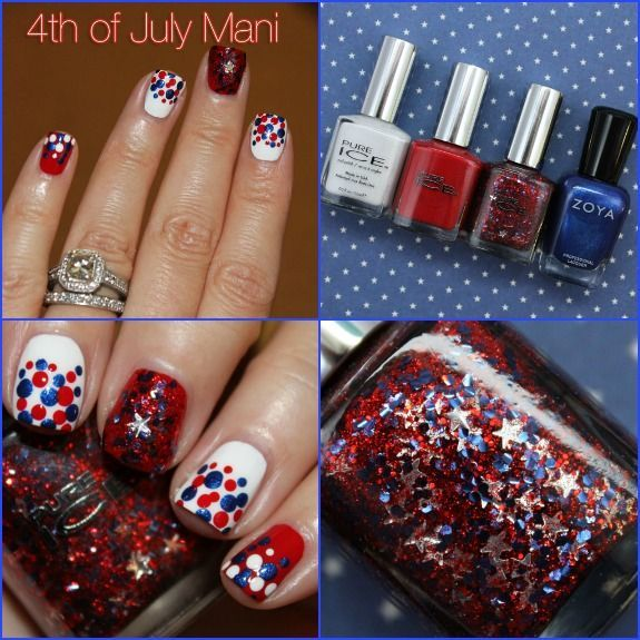 Pure Ice 4th of July nails