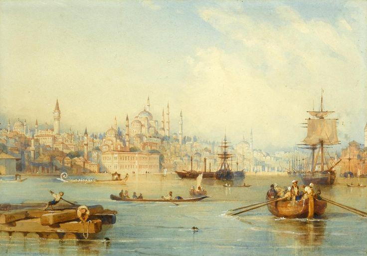 Haliç'in Girişi'nden İstanbul - Thomas Allom