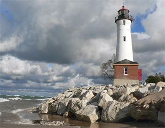 Crisp Point Lighthouse, Michigan on Lake Superior (Bumpiest road ever to get to this light!)
