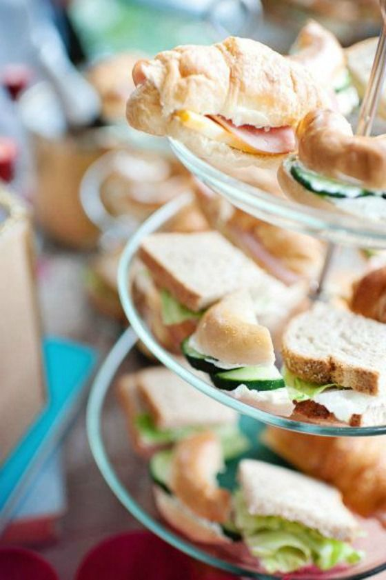 Tea sandwiches are the perfect food for any type of tea party.  #teaparty #teafood