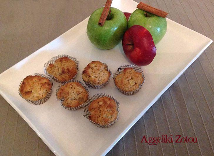 Μάφινς μήλο-κανέλα