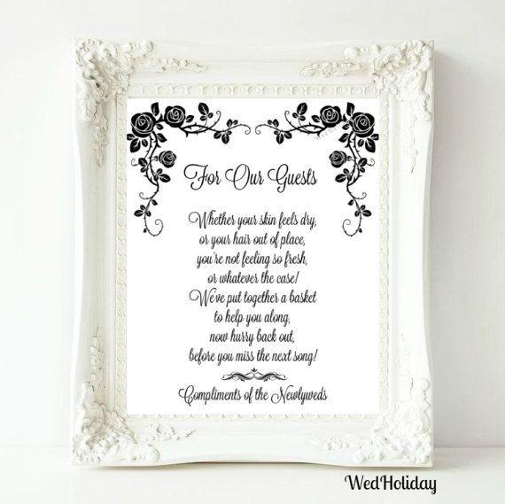Bathroom Basket Signs For Weddings 12 best wedding bathroom basket signs images on pinterest