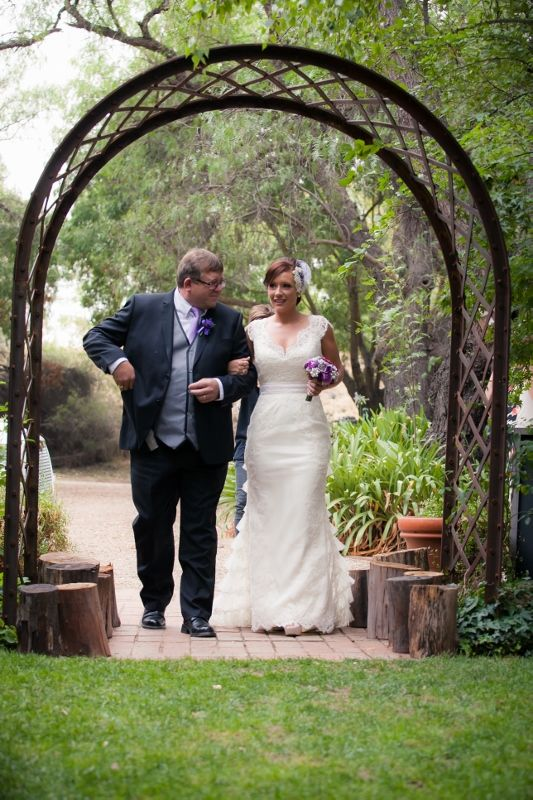 Ceremony in the Garden @ Chateau Dore Winery