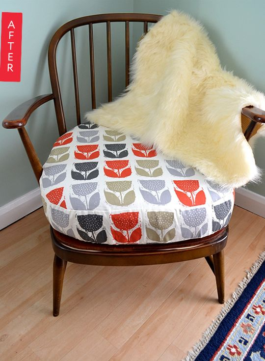 Before & After: A Worn Out Chair Gets a Wake Up Call // Someone teach me how to do this!